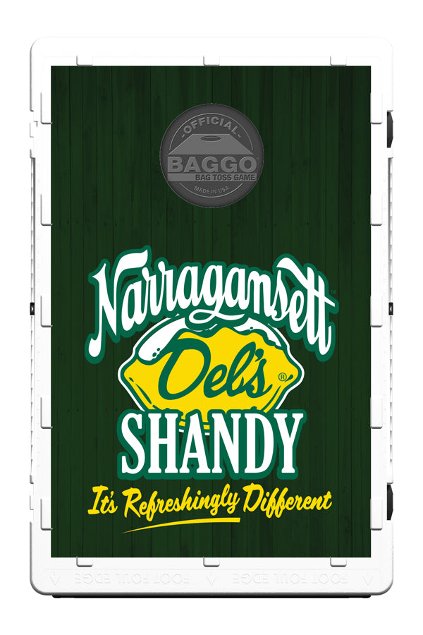The Portable Del's Shandy Cornhole Set