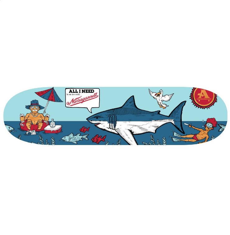 "All I Need X 'Gansett ""Beer Shark"" Deck"