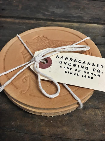 HARDENCO X 'Gansett Leather Coasters (No.2)