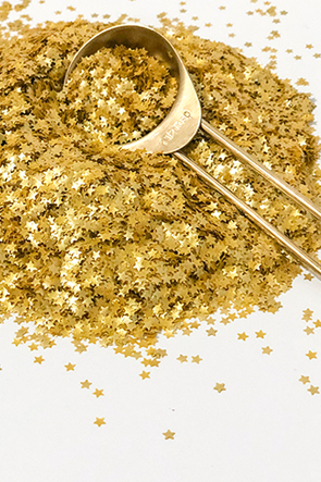 EDIBLE GOLD METALLIC GLITTER STARS