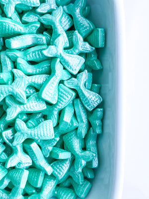 TEAL MERMAID TAILS SHAPES