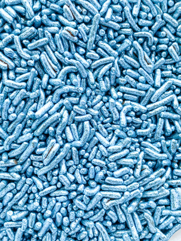 BLUE METALLIC CHOCOLATE SPRINKLES
