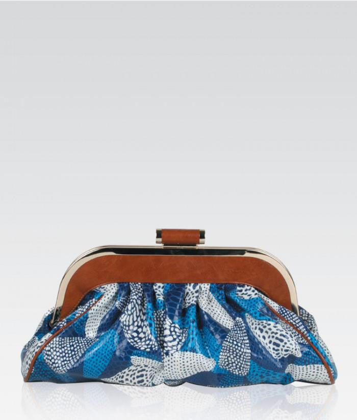 Exotic Blue Clutch