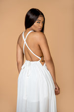 Aphrodite Open-Back Maxi Dress