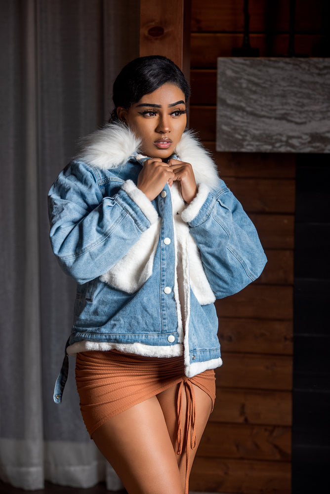Aspen Fur Denim Jacket