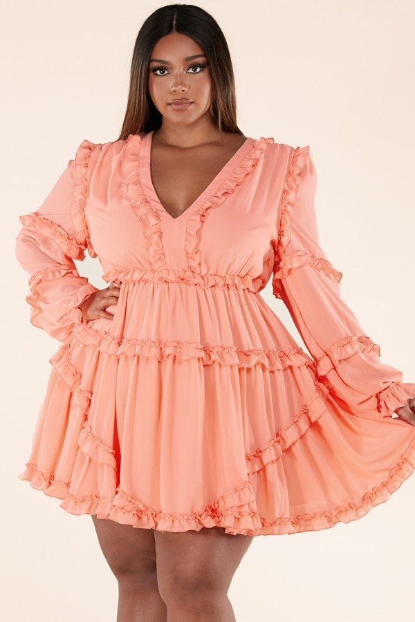 Carefree Ruffle Mini Dress