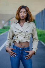 Chicago Cropped Trench - 1 Hot Diva