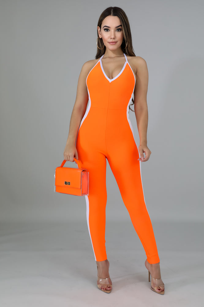 Crash Course Sporty Halter Jumpsuit - 1 Hot Diva
