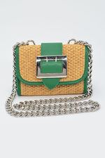 Dixie Straw and Chain Strap Clutch