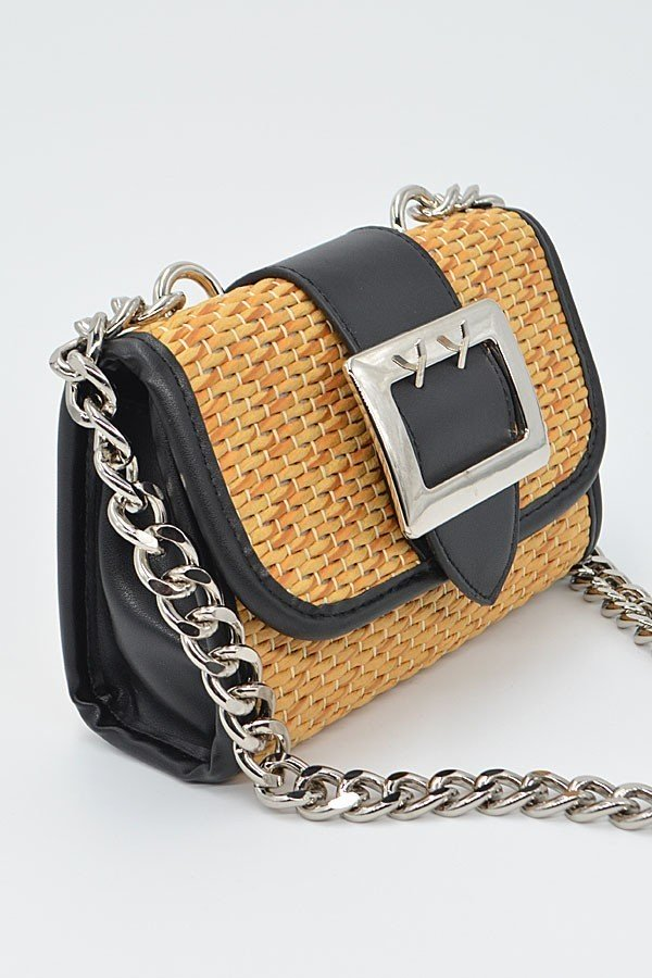 Dixie Straw and Chain Strap Clutch - 1 Hot Diva