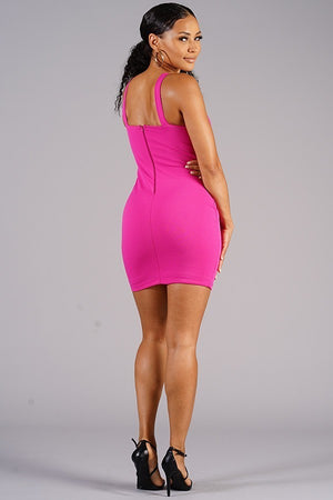 Empower Me Hot Pink Sleeveless Dress - 1 Hot Diva