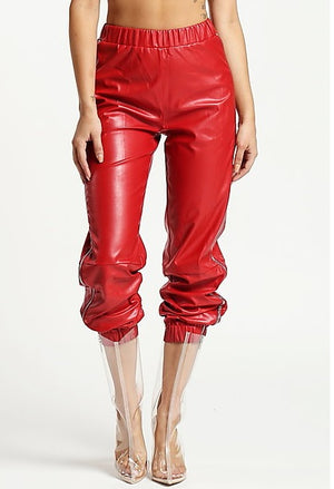 Kimmy Paparazzi Faux Leather Joggers