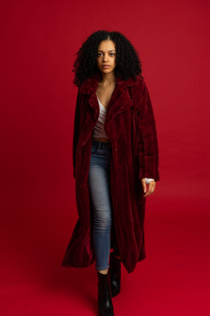 Flossin' in Fleece Plush Long Coat - 1 Hot Diva