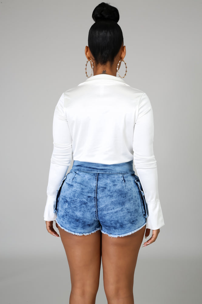 Get Waisted Denim Shorts - 1 Hot Diva