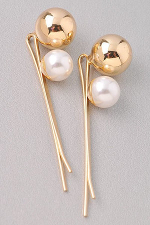 Golden Girl Ball and Pearl Hair Pins - 1 Hot Diva