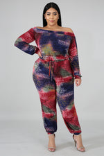 Graffiti Sweetie Slogan Print Jumpsuit