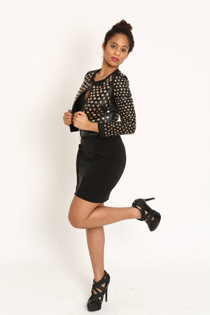 Studded Diva Moto Jacket - 1 Hot Diva