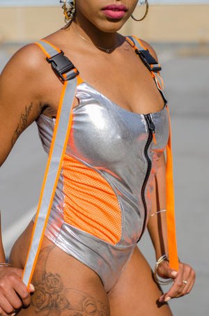 Logan Speedway Silver Sporty Bodysuit - 1 Hot Diva