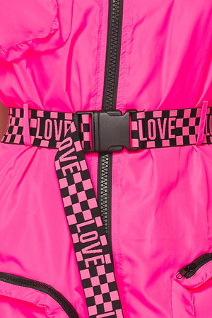 Love to Love Me Hot Pink Utility Dress - 1 Hot Diva