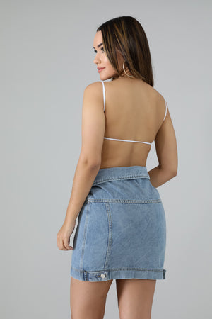 Mind = Blown Deconstructed Denim Mini Skirt - 1 Hot Diva
