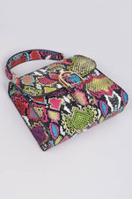 Multicolor Melt Snakeskin Clutch Bag - 1 Hot Diva