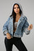 Never Basic Hooded Denim Jacket - 1 Hot Diva