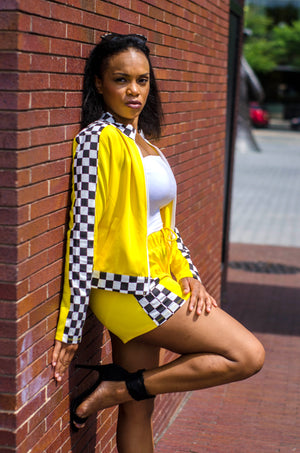 Non-Stop Checkered Shorts Set - 1 Hot Diva