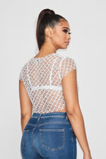 Pacific Pearl Mesh Top