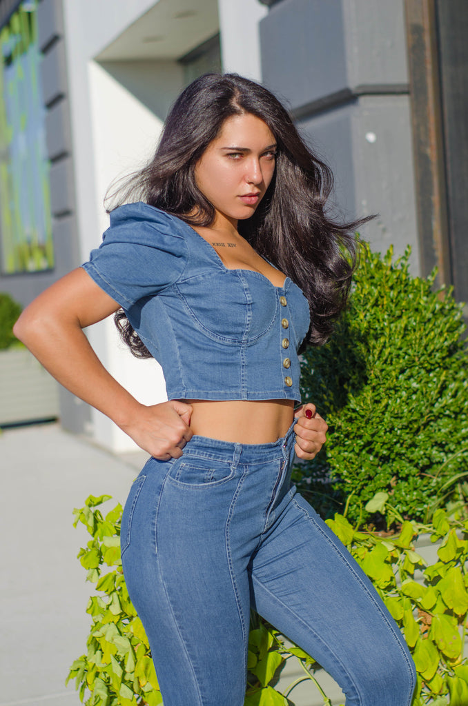 Rock 'n' Ruche Jeans Set - 1 Hot Diva