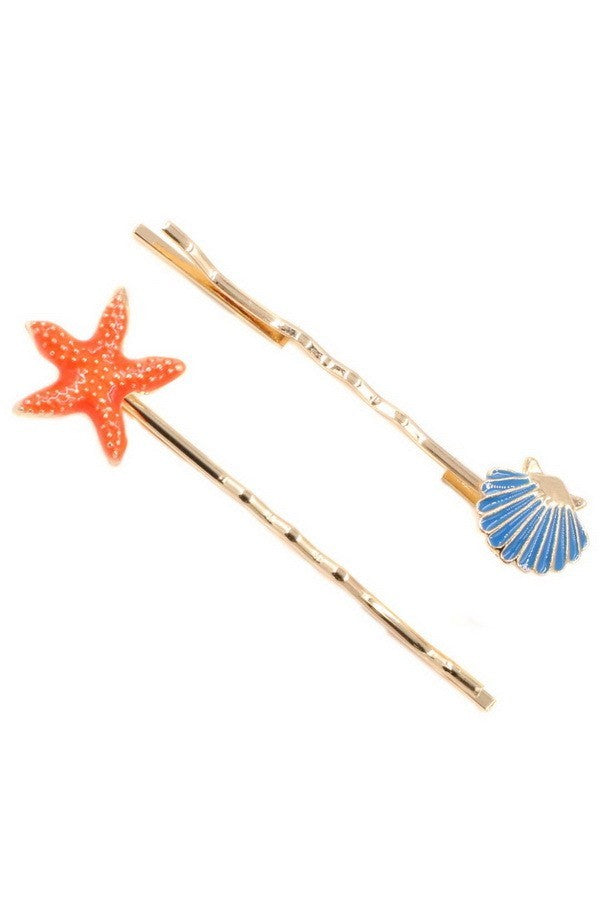 Seashores 4-Piece Hair Pin Set - 1 Hot Diva