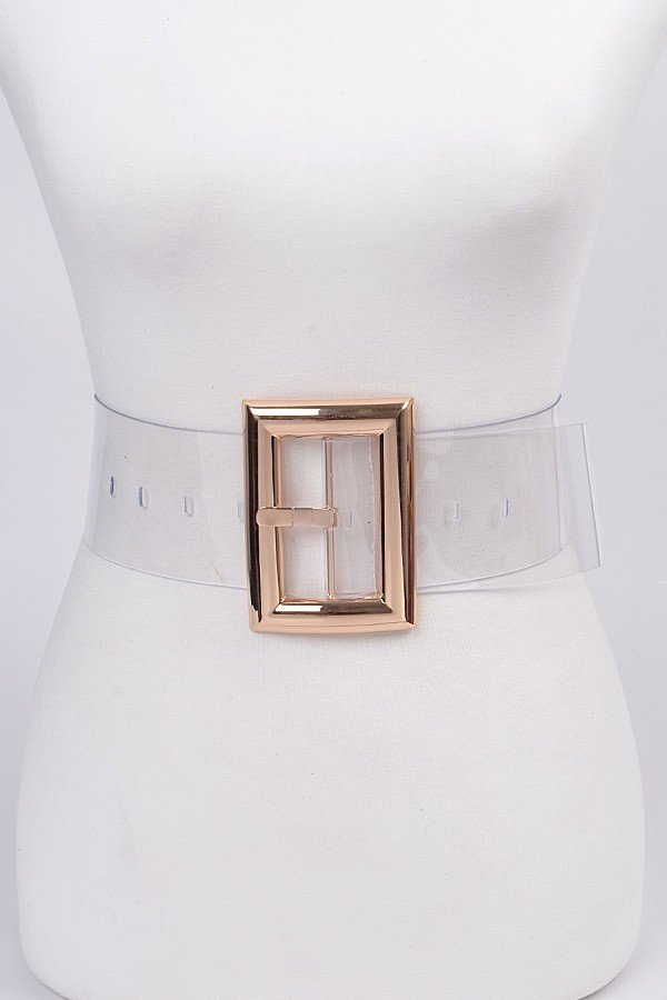 See it Clearly Transparent PVC Belt