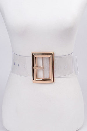 See it Clearly Transparent PVC Belt - 1 Hot Diva