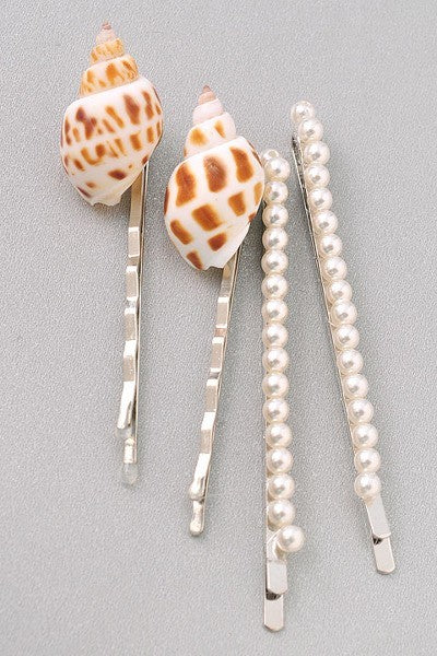 She Sells Seashells Hair Pins - 1 Hot Diva