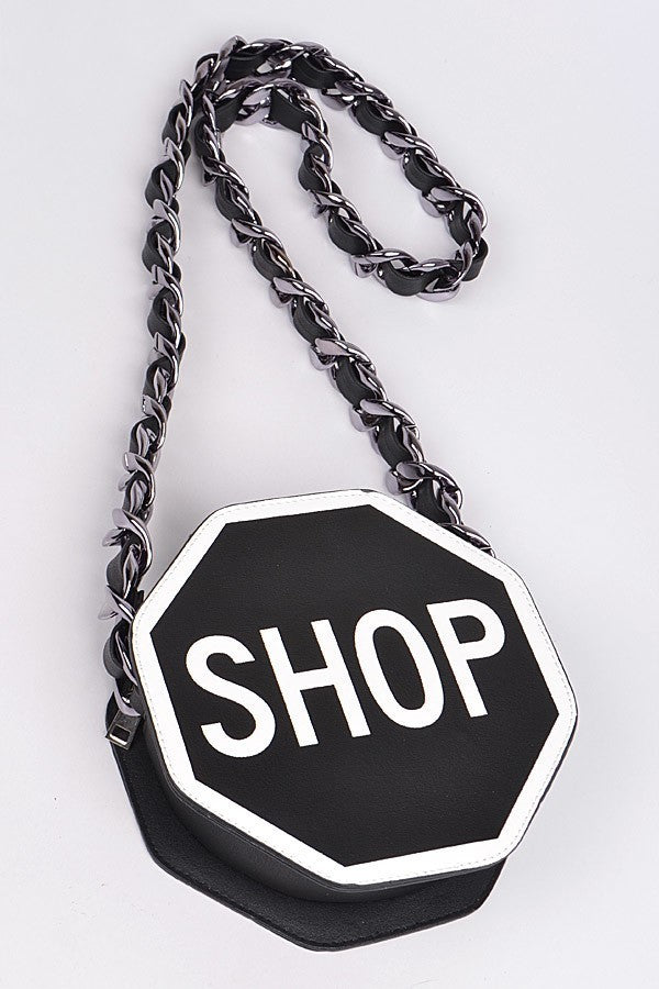 Shop in the Name of Love Stop Sign Bag - 1 Hot Diva