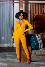 Sunflower Mustard Ruched Jumpsuit