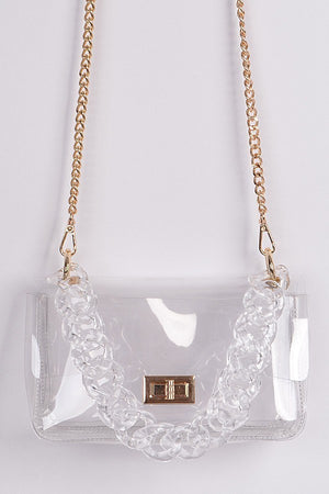 Visibly Clear Chain Clutch - 1 Hot Diva