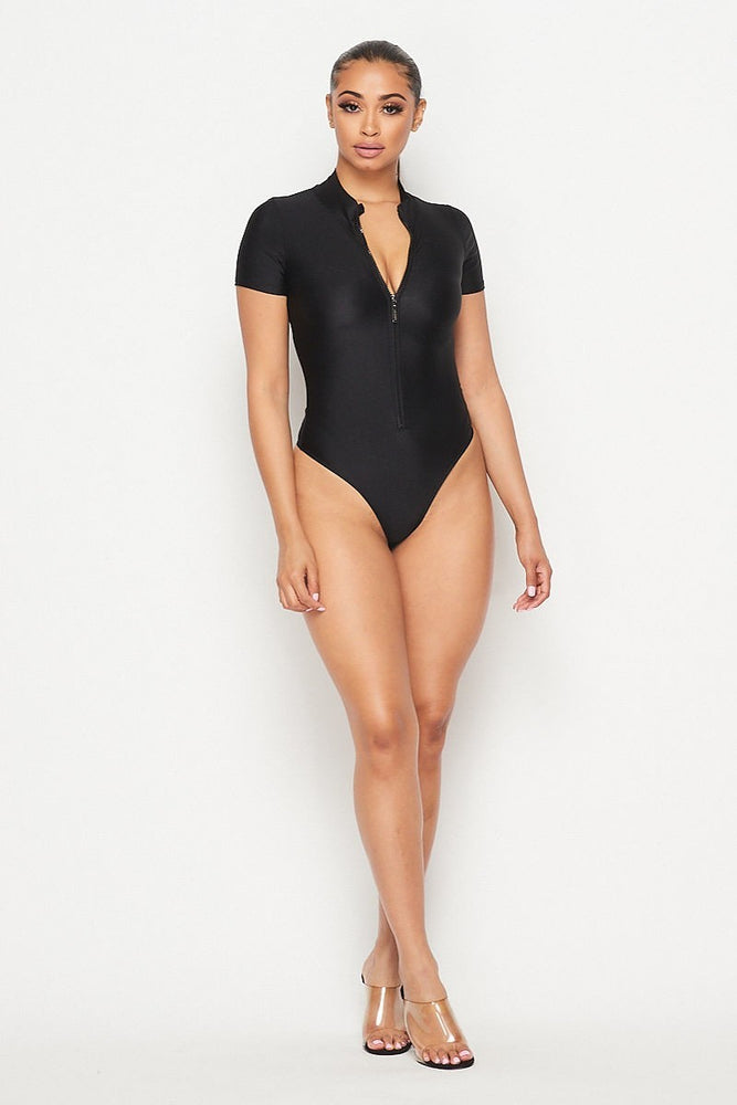 Ziptease Thong Bodysuit