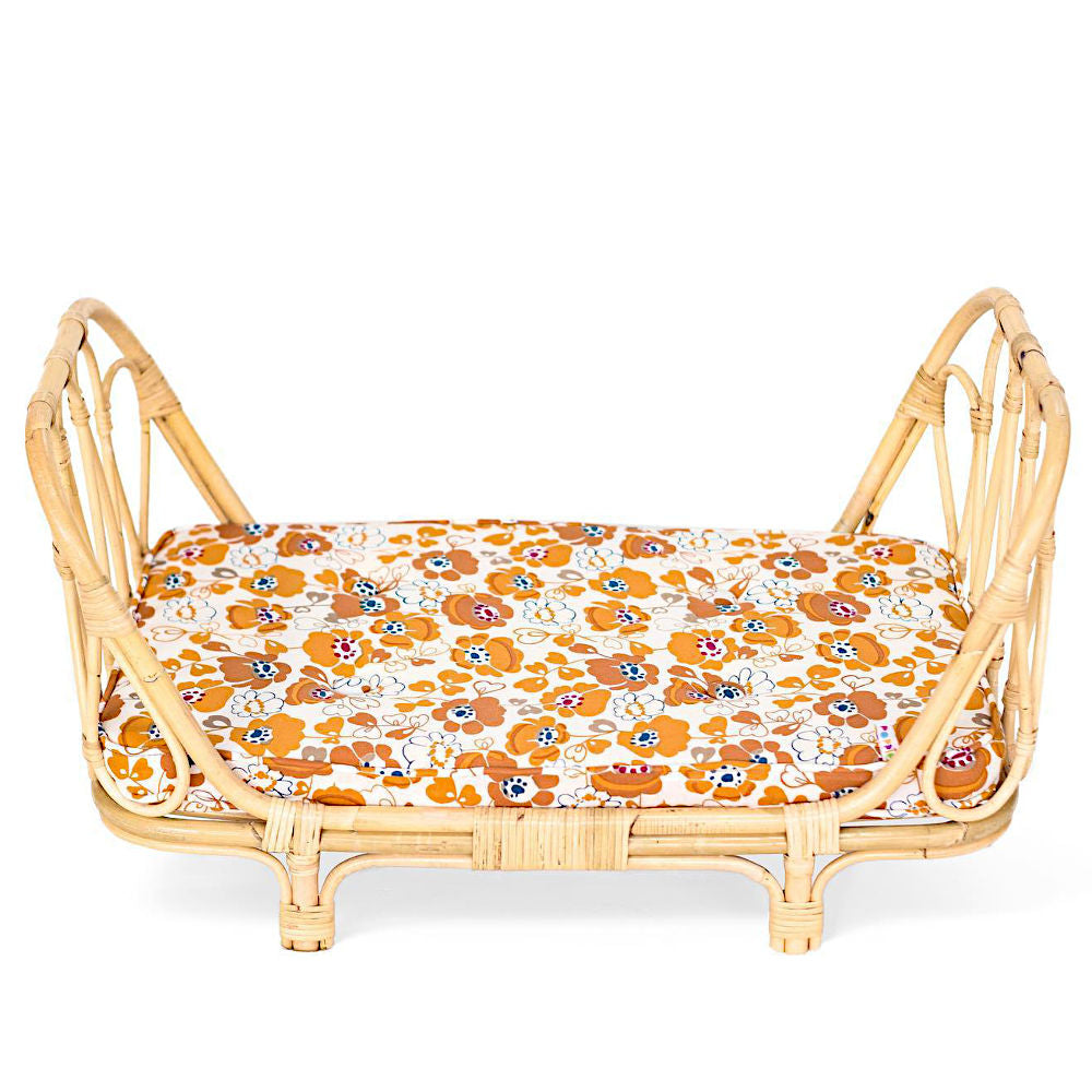 Poppie Doll size Day Bed, Flower