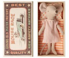 Maileg Big Sister Mouse in a Box, Sleep Dress