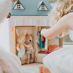 Moulin Roty Little Armoire with 2 Dolls