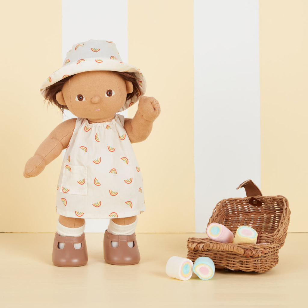 Olli Ella Dinkum Doll Una Rainbow Dress Set