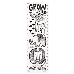 Wee Gallery Canvas Growth Chart, Safari