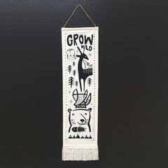 Wee Gallery Canvas Growth Chart, Woodland