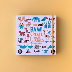 LONDJI Bam! Animals! 16 Wooden Stamps