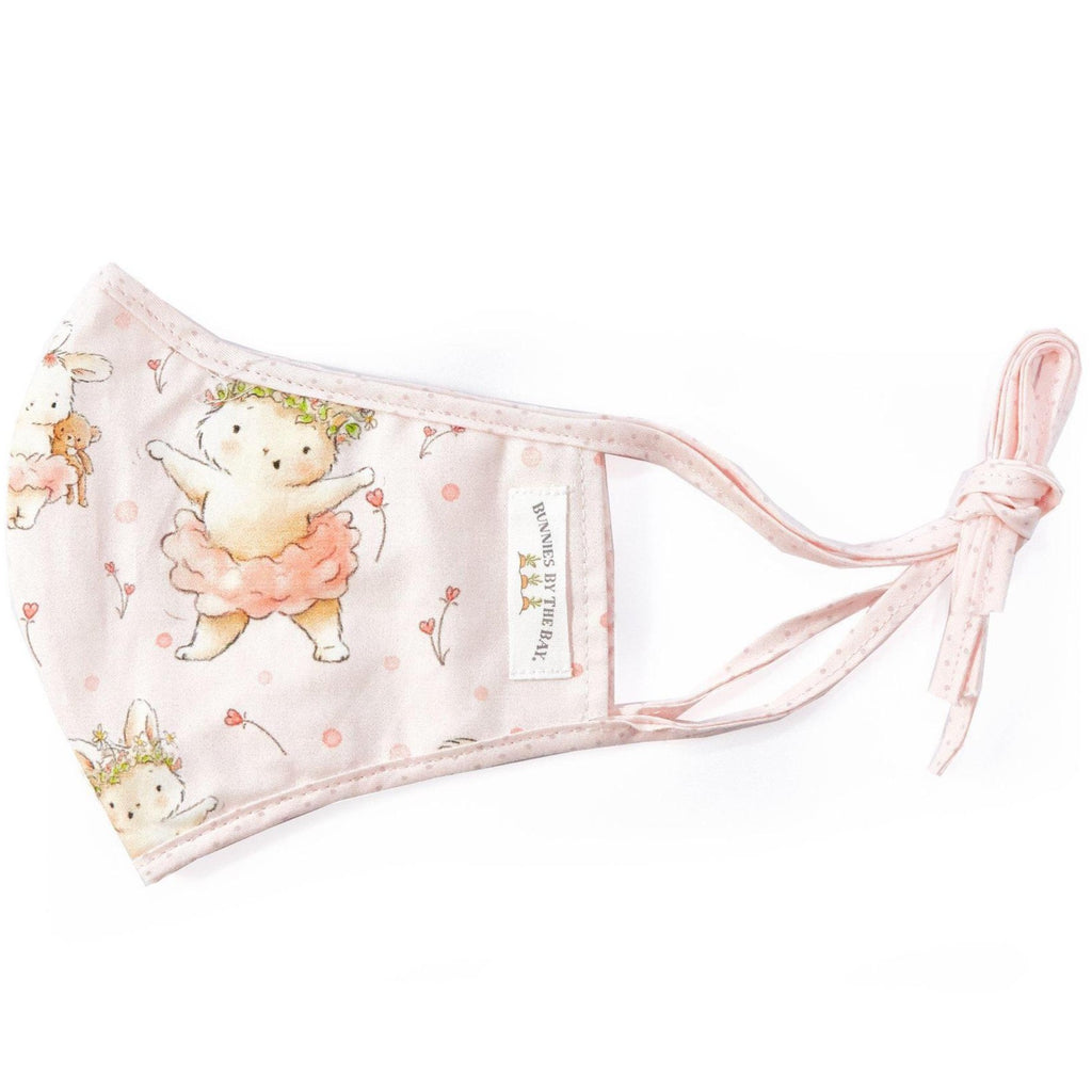 Fabric Face Mask for Kid, Blossom Bunny.