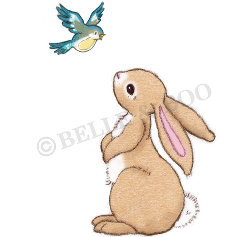 Boo Bunny & The Bluebird Wall Sticker