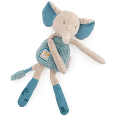 Moulin Roty Sous Mon Baobab Elephant Rattle Comforter