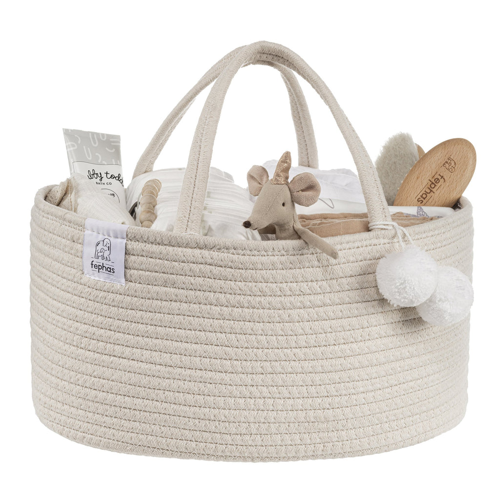 Cotton Rope Diaper Caddy