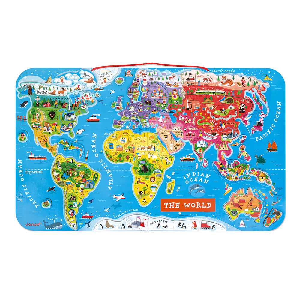Magnetic World Map Puzzle