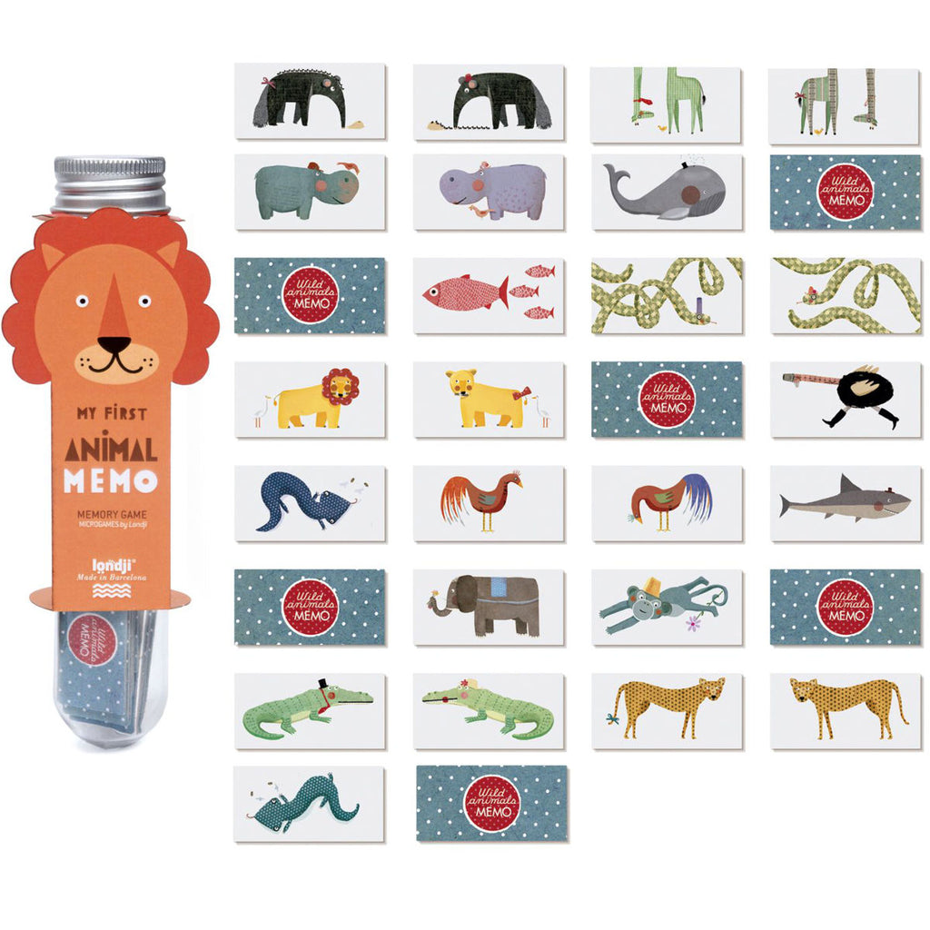 LONDJI Micro Memory Game, Wild Animals